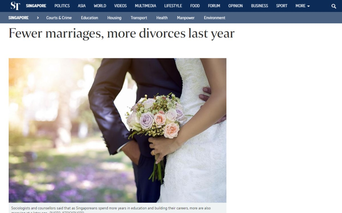 Fewer marriages, more divorces last year